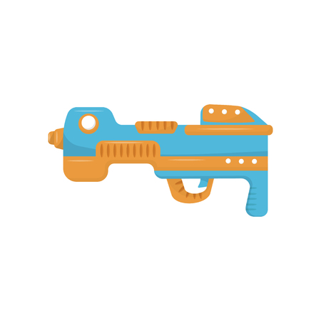 Colorful toy gun, handgun pistol for kids game vector Illustration on a white background Ilustrace