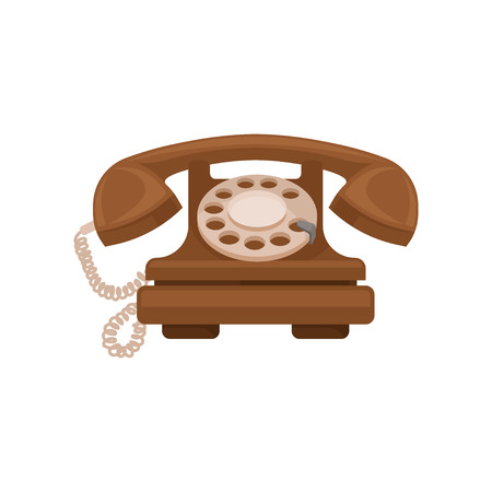 Retro styled telephone vector Illustration isolated on a white background.