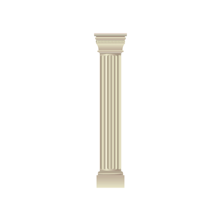 White classic antique column vector Illustration on a white background