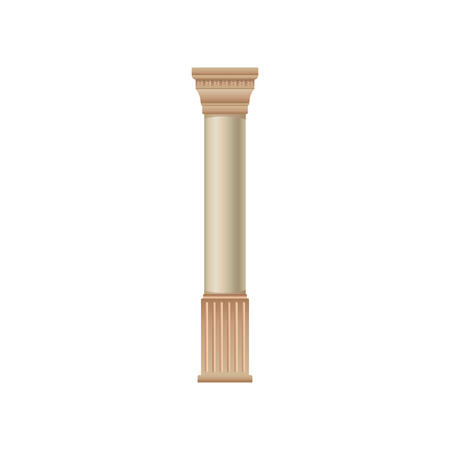 Antique marble column vector Illustration isolated on a white background. Иллюстрация