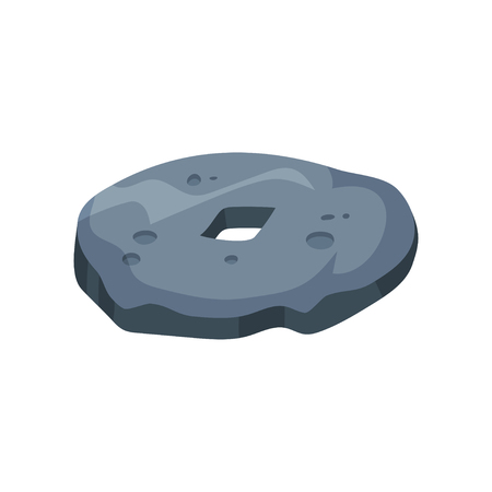 Prehistoric stone wheel, stone age symbol vector Illustration on a white background  イラスト・ベクター素材