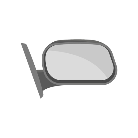 Icon of outside rear view mirror. Part of automobile. Car theme. Graphic element for advertising poster of auto shop or repair service. Vector illustration in flat style isolated on white background.