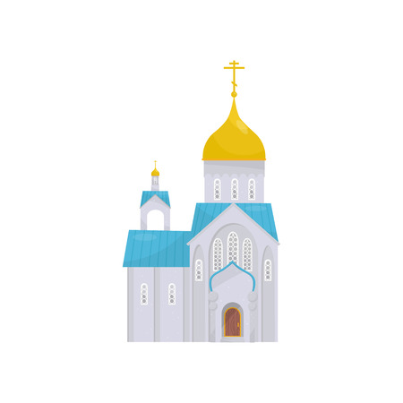Orthodox Church building, religious temple vector Illustration on a white background 免版税图像 - 107688766
