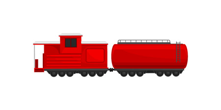 Firefighting train, emergency service vehicle vector Illustration isolated on a white background. Illustration