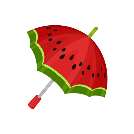 ute watermelon umbrella vector Illustration on a white background 向量圖像
