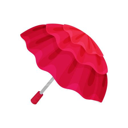 ute crimson umbrella vector Illustration on a white background 向量圖像