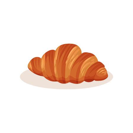 Croissant bakery pastry fresh product vector Illustration isolated on a white background. Illustration