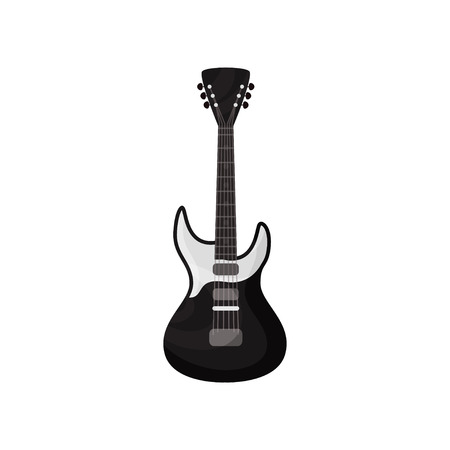 Electric guitar musical instrument vector Illustration isolated on a white background. Illustration