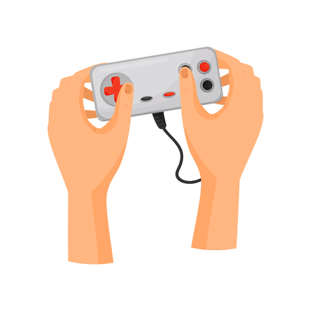Game console concept. Entertainment and dexterity arms.