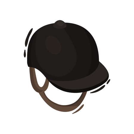 Professional hat in equestrian sport on white background. Illustration