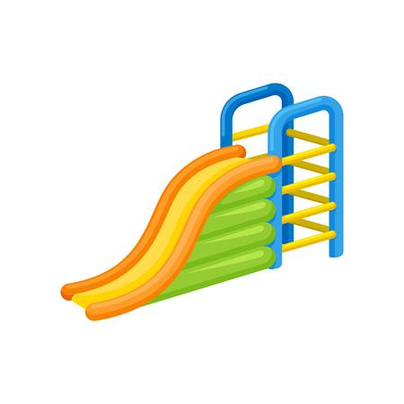 Inflatable slide concept. Amusement park. Vector illustration. Illustration