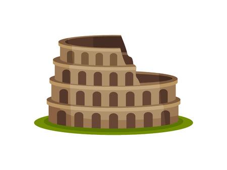 Image Kolezeem. Landmark of Italy. Vector illustration on white background.
