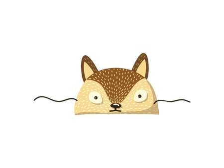 Cute lynx. Mask on the face. Vector illustration.