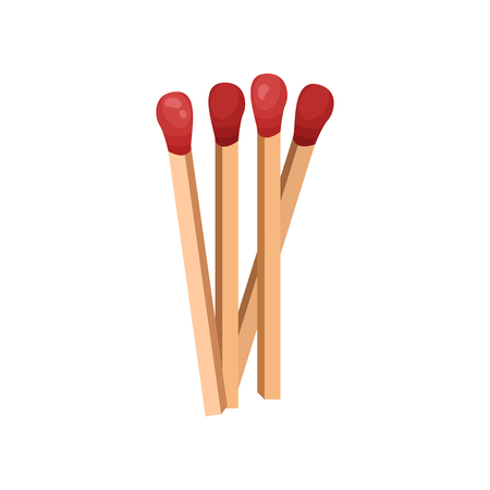 Several matches without a box. Vector illustration.