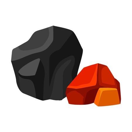 Black and orange embers. Vector illustration on white background. 版權商用圖片 - 127446813