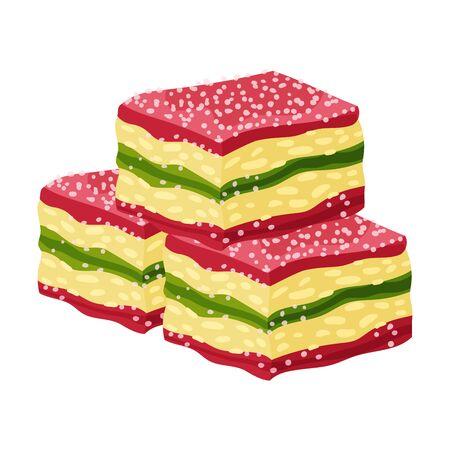 Multicolored marmalade. Vector illustration on white background.