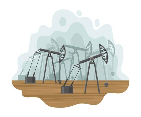 Oil production. Vector illustration on a white background. Banco de Imagens - 129229810