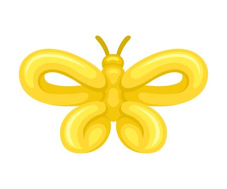 Butterfly of balloons. Vector illustration on a white background. Stockfoto - 129229158