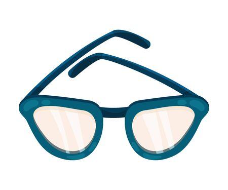Glasses in a blue frame. Vector illustration on a white background. Иллюстрация