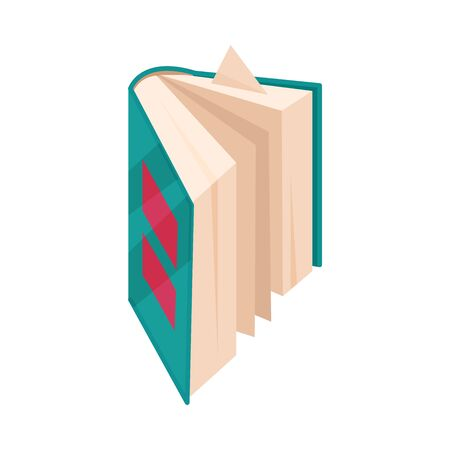 An ajar book is standing. Vector illustration on a white background.