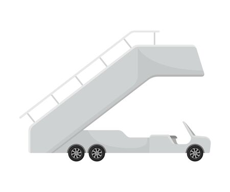 Cabriolet truck with a passenger ramp. Vector illustration on a white background.