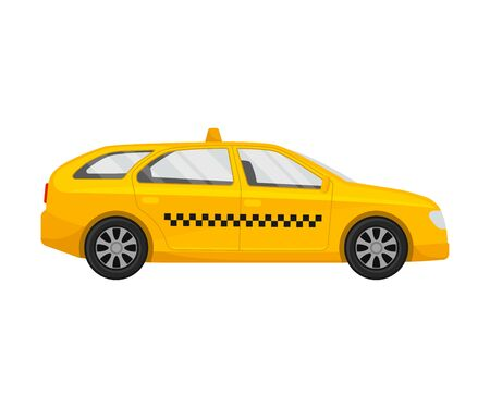 Passenger taxi. Vector illustration on a white background.