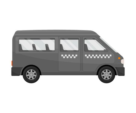 Taxi minibus. Vector illustration on a white background.