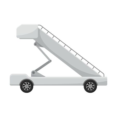 Gangway on wheels. Vector illustration on a white background.