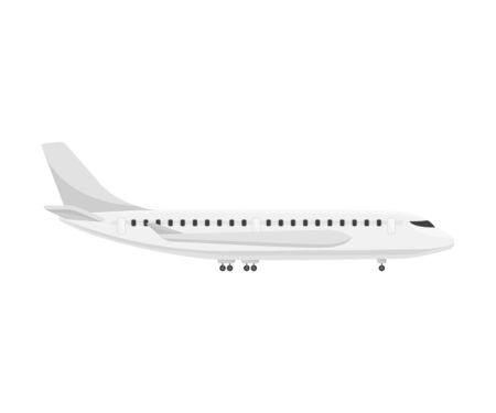 Passenger plane. Vector illustration on a white background.  イラスト・ベクター素材