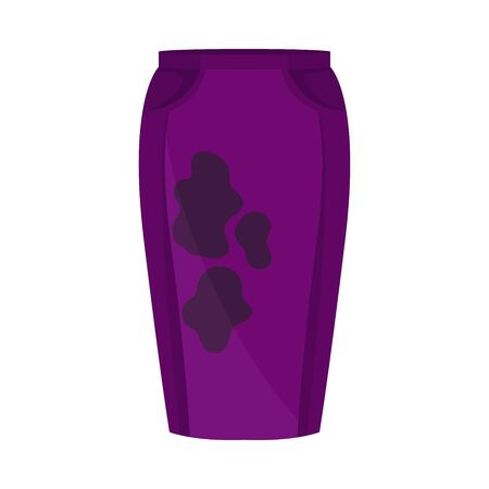 Dirty purple skirt. Vector illustration on a white background. Иллюстрация