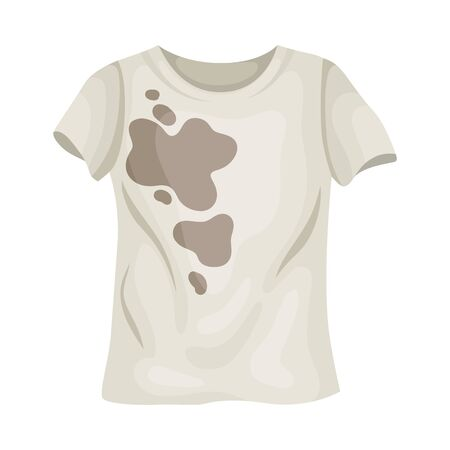 Dirty white t-shirt. Vector illustration on a white background. Иллюстрация