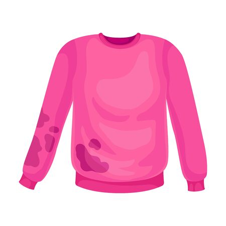 Dirty pink sweater. Vector illustration on a white background. Иллюстрация