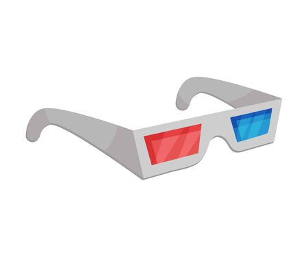 3D glasses. Vector illustration on a white background.