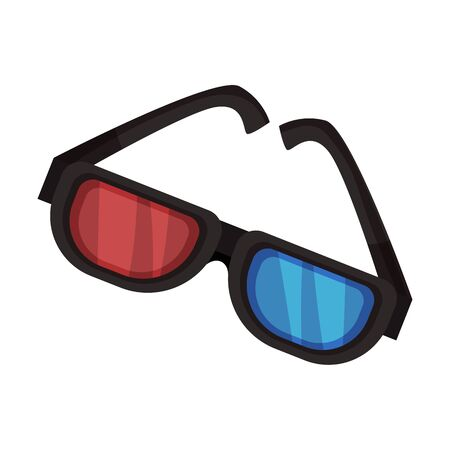 Plastic 3D glasses. Vector illustration on a white background.