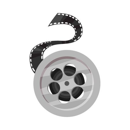 Film roll. Vector illustration on a white background.