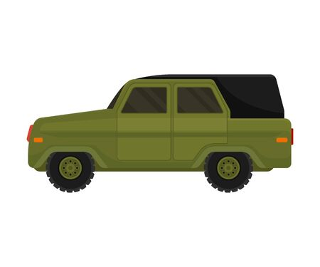 Military vehicle. Vector illustration on a white background. Stock Illustratie