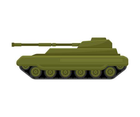 Khaki tank. Vector illustration on a white background. 向量圖像