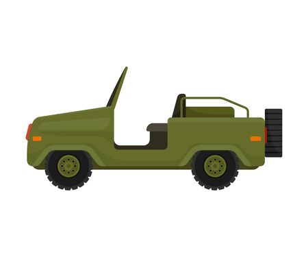 military vehicle without a roof. Vector illustration on a white background.