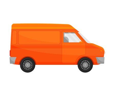 Orange minivan. Vector illustration on a white background. Banque d'images - 129760606