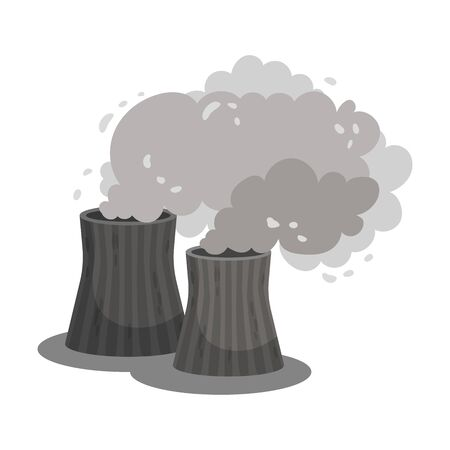 Two thick pipes. Vector illustration on a white background. 일러스트