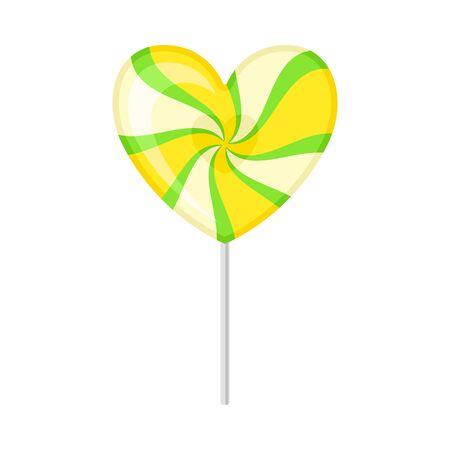 Lollipop heart. Vector illustration on a white background.