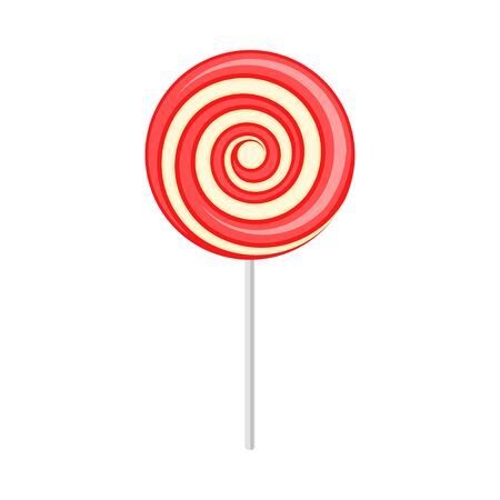 Round lollipop. Vector illustration on a white background.