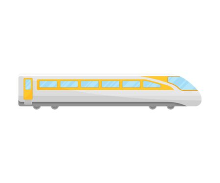 Yellow And White Bullet Express Flat Vector Illustration