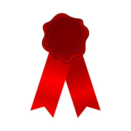Badge Or Award Ribbons With Empty Rosette Vector Illustration 일러스트