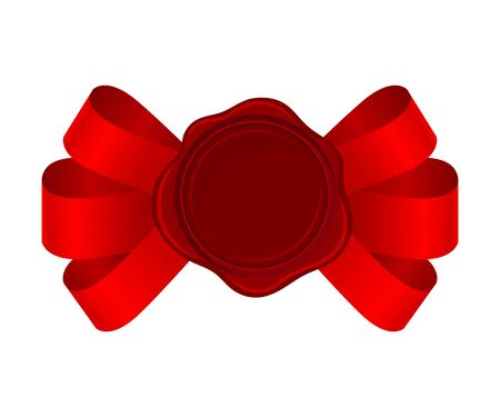 Sofisticated Bows From Red Silk Ribbons With Empty Rosette Vector Illustration Stock Illustratie
