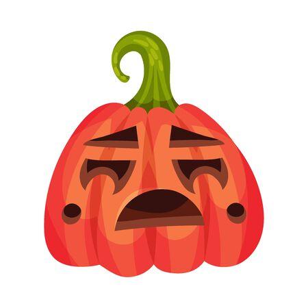 Crying on a jack lantern. Vector illustration.  イラスト・ベクター素材