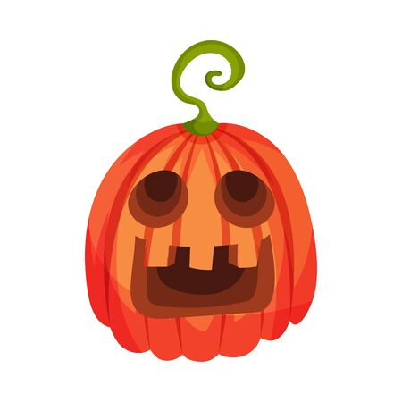 Uncertainty on a jack lantern. Vector illustration. Banco de Imagens - 131735302
