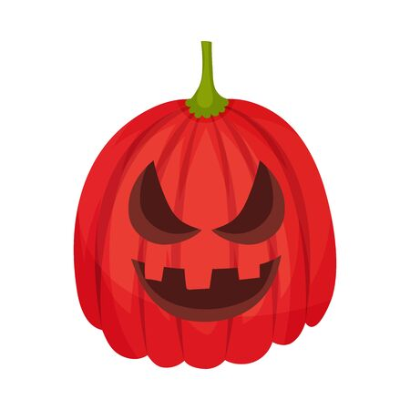 Aggression on a jack lantern. Vector illustration.