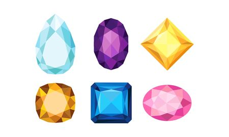 Jewelry Isolated Volume Collection Of Vector Icons. Graphic Shiny Jewellry Symbols Ilustração
