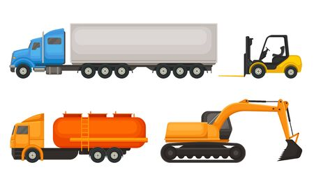 Special Agricultural Machinery Vector Illustrated Isolated Set Illustration